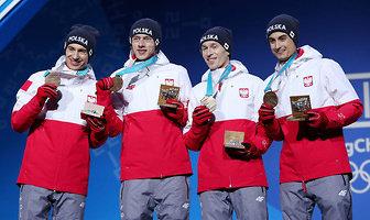 Pjongczang 2018. Polscy skoczkowie odebrali medale olimpijskie! (galeria)