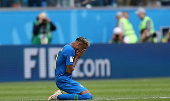 Mundial 2018. Neymar płakał po meczu Brazylii (galeria)