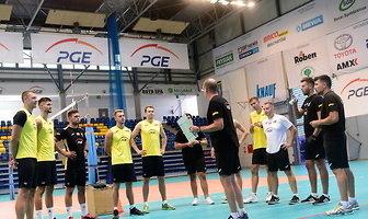 Pierwszy trening siatkarzy PGE Skry Bełchatów (galeria)