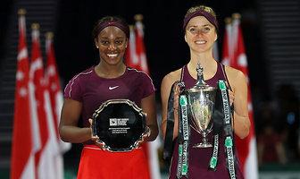 Elina Switolina triumfatorką Mistrzostw WTA. Ukrainka podbiła Singapur (galeria)