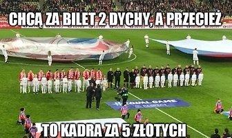 """""""To kadra za 5 złotych"""". Memy po wpadce Biało-Czerwonych w meczu z Czechami"""