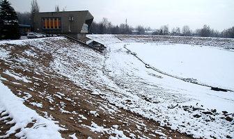 Wstrzymane prace na stadionie OSIR Skałka w Świętochłowicach (galeria)