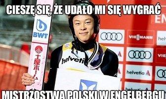 """""""Kobayashi wygrywa mistrzostwa Polski w Engelbergu"""". Memy po weekendzie z PŚ w skokach"""