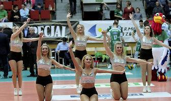 Soltare Cheerleaders podczas meczu Indykpol AZS Olsztyn - Trefl Gdańsk (galeria)