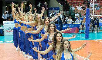 Cheerleaderki w trakcie Ligi Narodów w Katowicach (galeria)