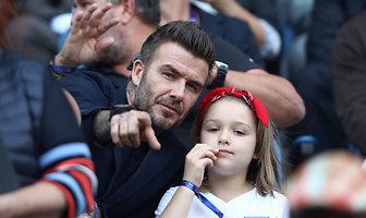 Beckham zabrał córkę na mecz. Zobacz, jak wygląda mała Harper