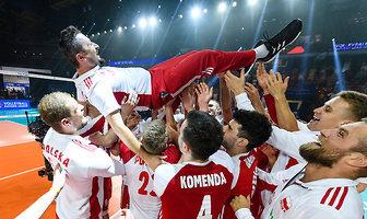 Final Six Ligi Narodów. Polska - Brazylia. Piękne chwile w Chicago. Zobacz, jak cieszyli się nasi siatkarze! (galeria)