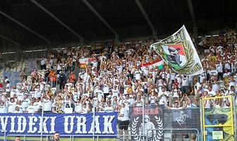 Kibice podczas meczu Cracovia - DAC 1904 Dunajska Streda (galeria)