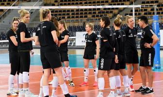 Trening medialny reprezentacji Polski kobiet w siatkówce (galeria)