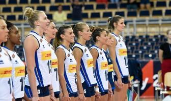Mistrzostwa Europy siatkarek: Włochy - Ukraina 3:0 (galeria)