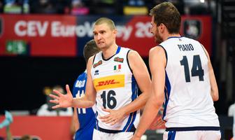 Mistrzostwa Europy siatkarzy. faza grupowa: Francja - Włochy 3:1 (galeria)