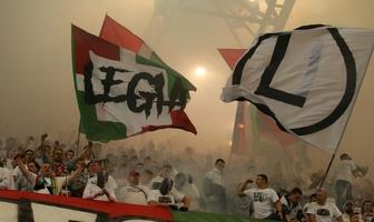 Kibice podczas meczu Legia Warszawa - Lech Poznań (galeria)