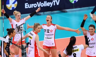 Liga Mistrzyń: ŁKS Commercecon Łódź - Allianz MTV Stuttgart 3:2 (galeria)