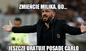 """Liga Mistrzów. Napoli - Genk. """"Zmieńcie Milika"""". Zobacz memy po hat-tricku Polaka"""