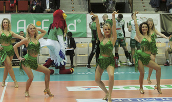Soltare Cheerleaders podczas meczu Indykpol AZS Olsztyn - Aluron Virtu CMC Zawiercie (galeria)
