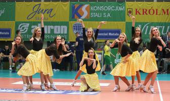 Cheerleaderki na meczu Aluron Virtu CMC Zawiercie - Grupa Azoty ZAKSA Kędzierzyn - Koźle