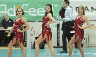 Występ Soltare Cheerleaders podczas meczu Indykpol AZS Olsztyn - BKS Visła Bydgoszcz (galeria)