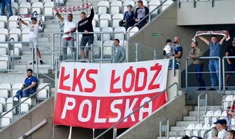 PKO Ekstraklasa. Kibice podczas meczu ŁKS Łódź - Raków Częstochowa (galeria)