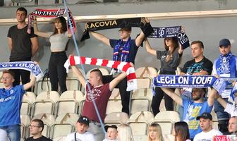 PKO Ekstraklasa. Kibice podczas meczu Cracovia - Lech Poznań (galeria)