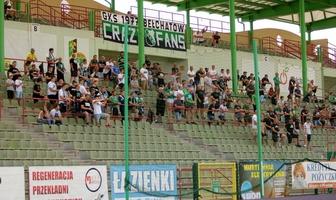 Fortuna 1 Liga: Kibice podczas meczu GKS Bełchatów - Puszcza Niepołomice [GALERIA]