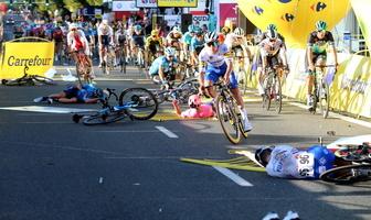 Kolarstwo. Horror na mecie Tour de Pologne. Zdjęcia wywołują ciarki na plecach