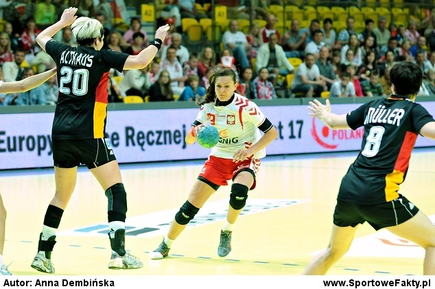 Kinga Byzdra podczas meczu w Gdyni (fot. Anna Dembińska)
