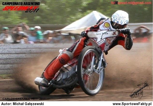 Facundo Albin na torze podczas mistrzostw Argentyny