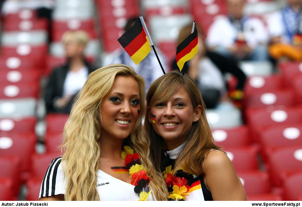 Kibice na meczu Niemcy - Włochy