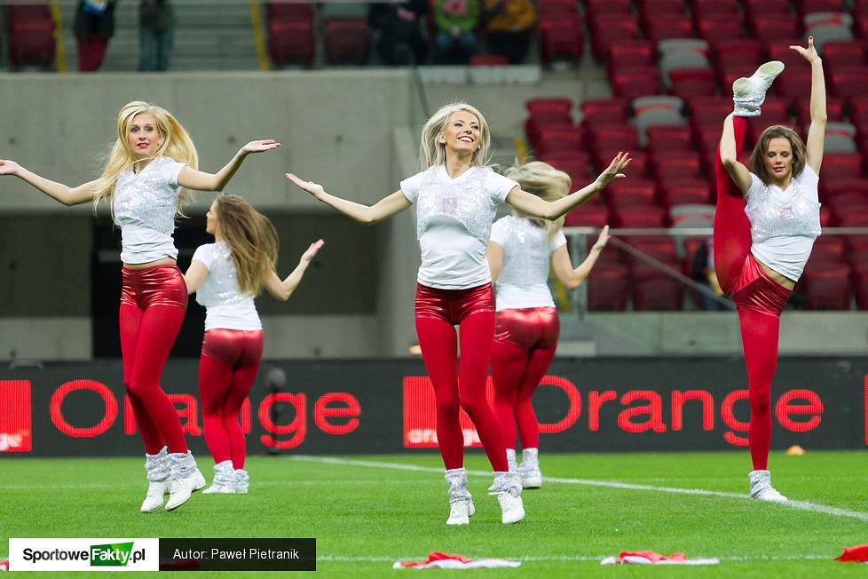 Cheerleaders Gdynia na meczu Polska - RPA