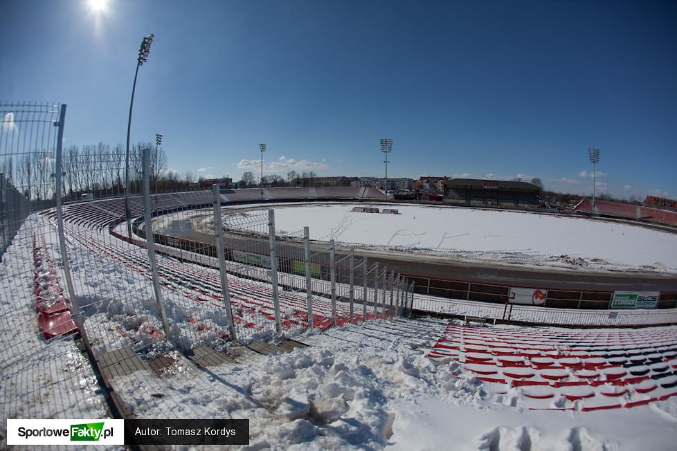 Zima na torze w Gnieźnie