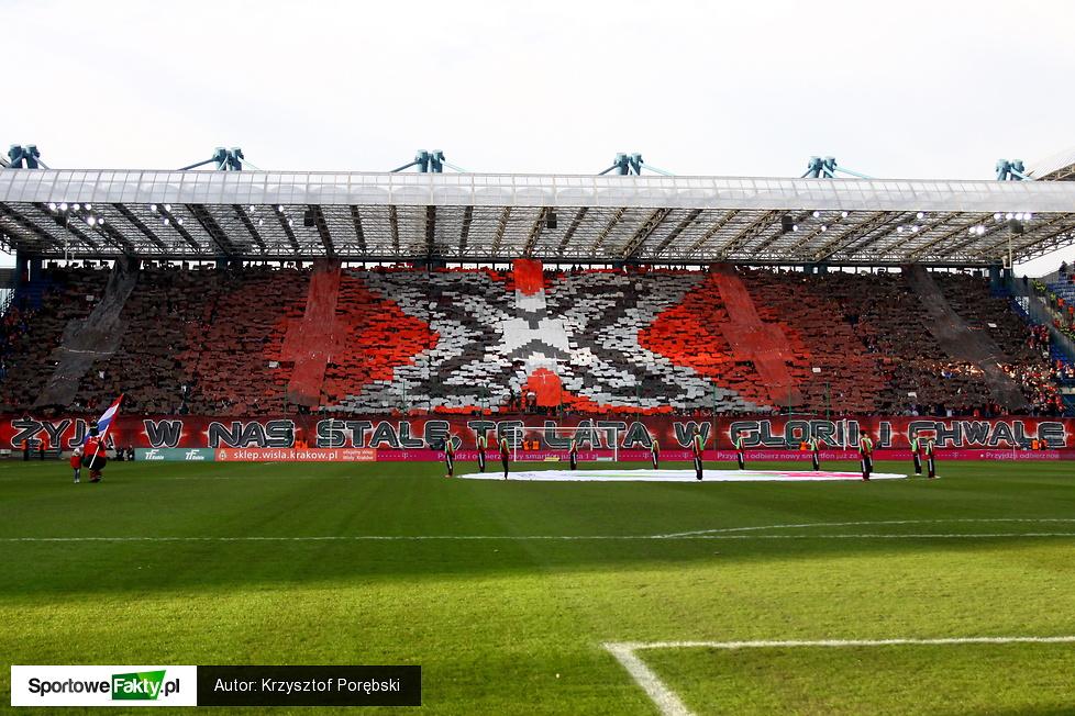 Trybuny podczas meczu Wisła Kraków - Legia Warszawa 1:2
