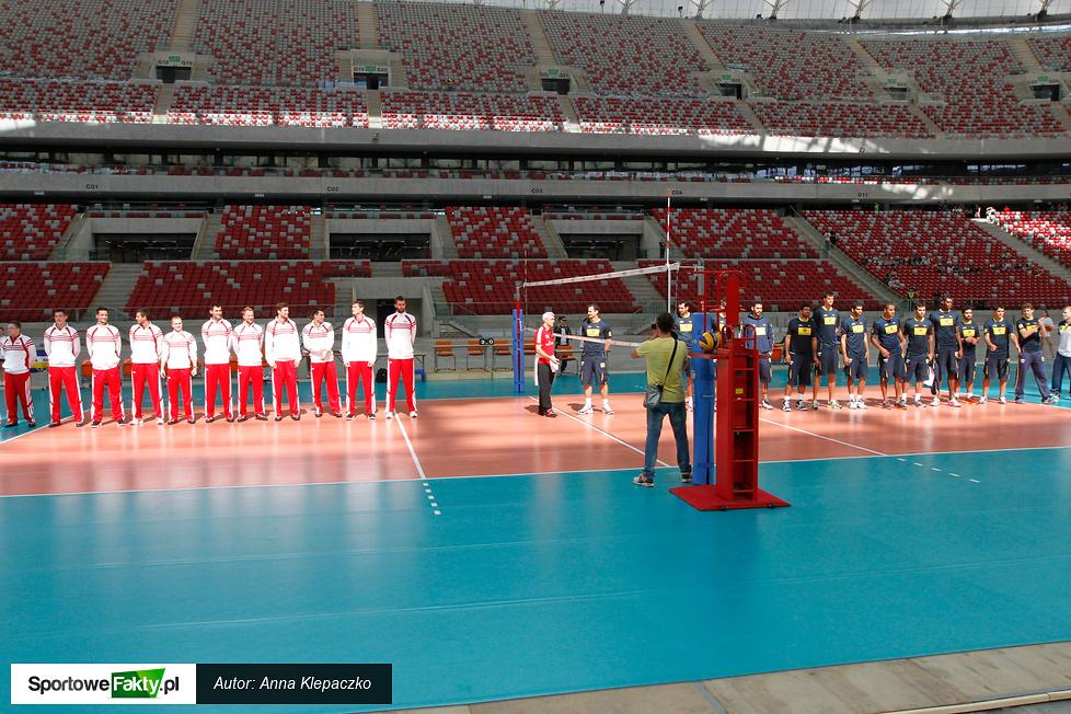 LŚ: Trening reprezentacji Polski i Brazylii na Stadionie Narodowym