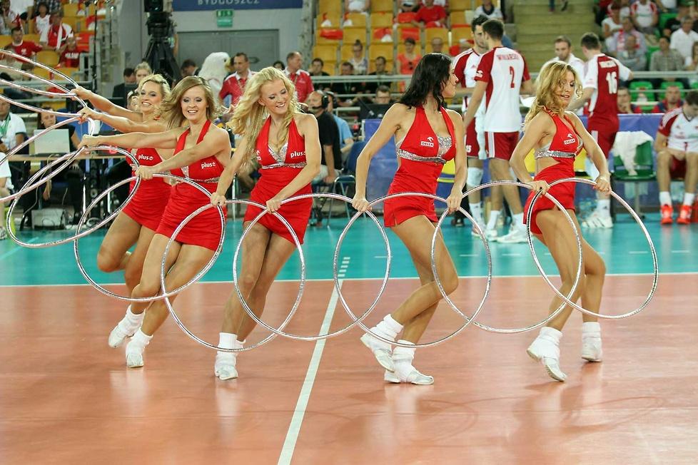 Cheerleaders Flex na meczu Polska - Argentyna, część 1