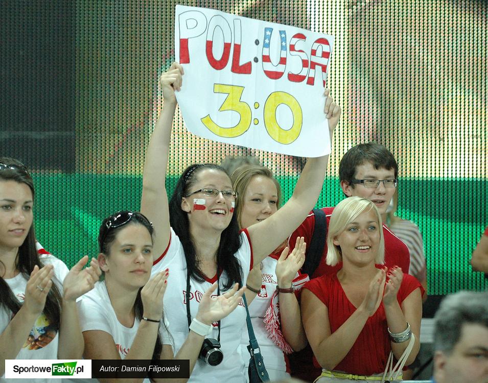Kibice podczas meczu Polska - USA