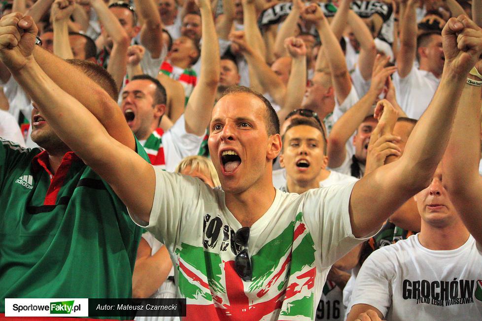 Kibice podczas meczu  Legia Warszawa - Molde FK