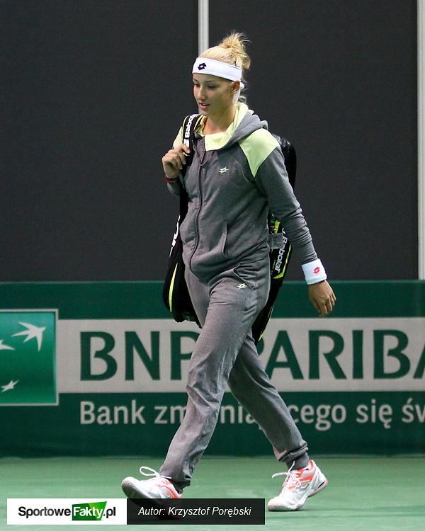 Kwalifikacje WTA Katowice: Paula Kania - Maria Elena Camerin 7:6 1:6 5:7