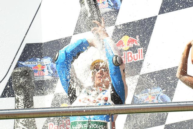 Dla Luisa Saloma to pierwsze podium w Moto2 (fot. PONS HP40 Team)