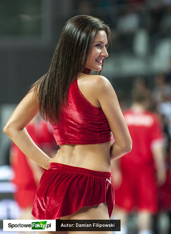 Cheerleaderki na meczu Polska - Austria