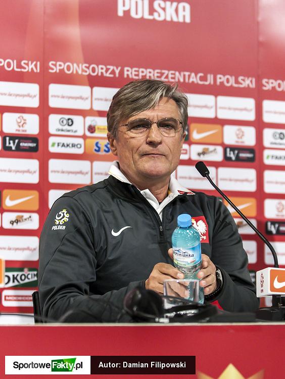 Konferencja i trening reprezentacji Polski