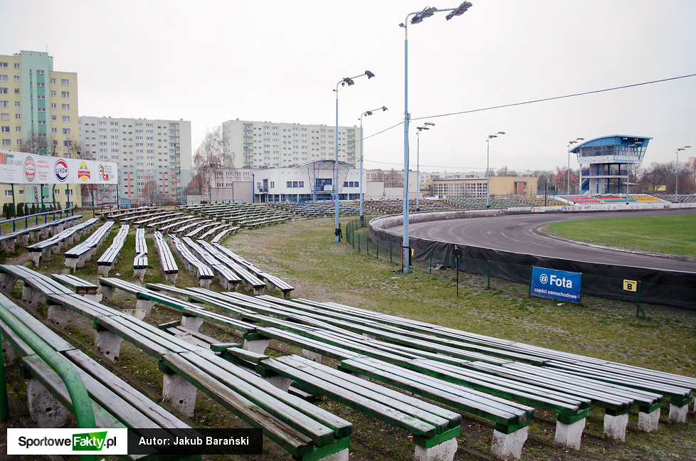 Stan stadionu żużlowego w Pile