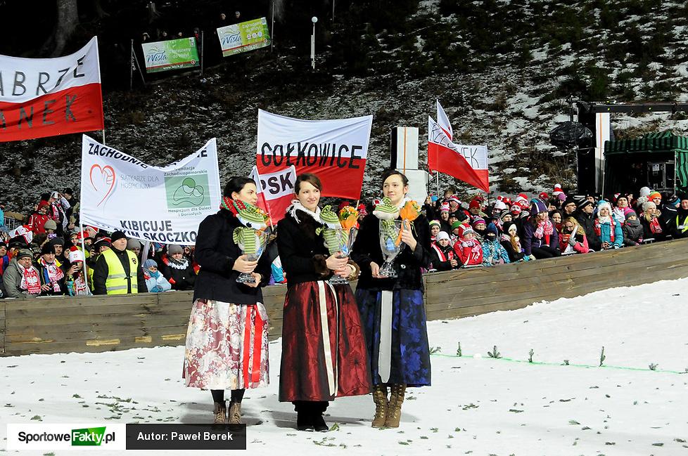 Ceremonia wręczenia nagród podczas Pucharu Świata w Wiśle