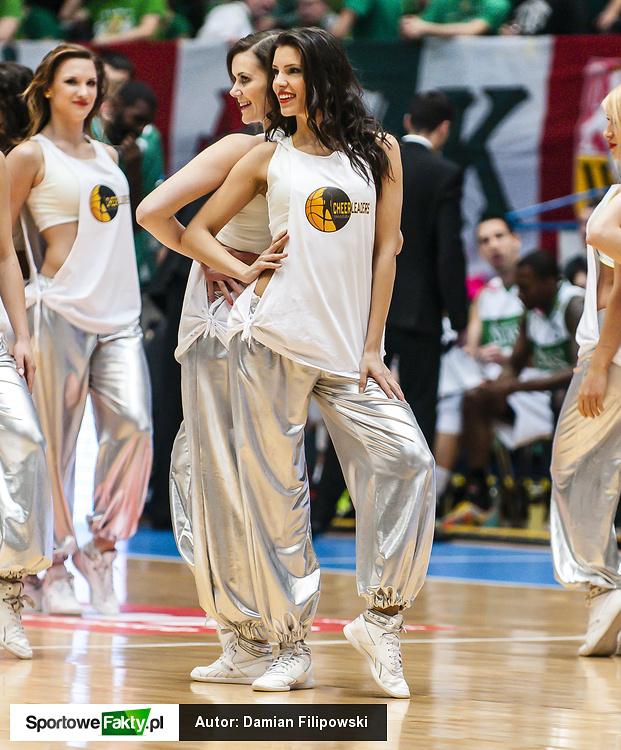 Cheerleaders Wrocław na meczu Śląsk - Czarni