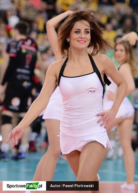 Cheerleaders Bełchatów na meczu Ligi Mistrzów