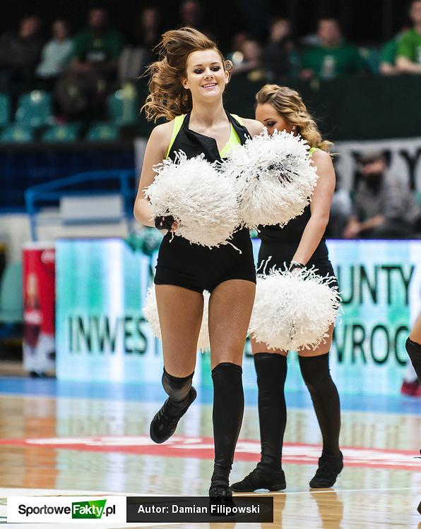 Cheerleaders Wrocław na meczu Śląska z Rosą Radom