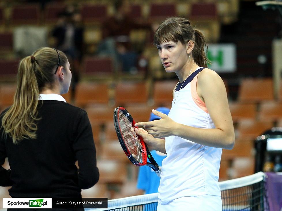 Kwalifikacje Katowice Open: Justyna Jegiołka - Risa Ozaki 5:7, 6:2, 6:3