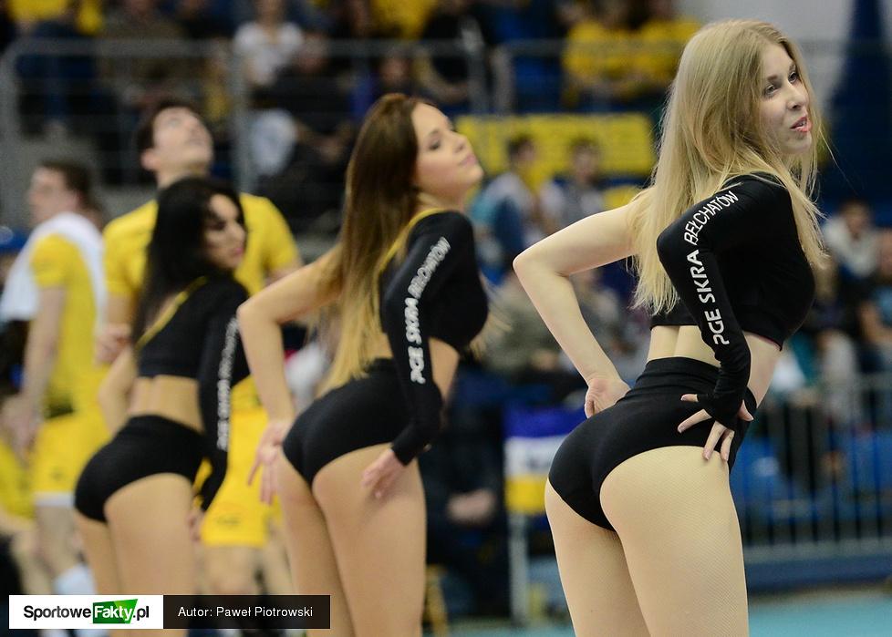 Cheerleaders Bełchatów na meczu PGE Skra - Jastrzębski Węgiel