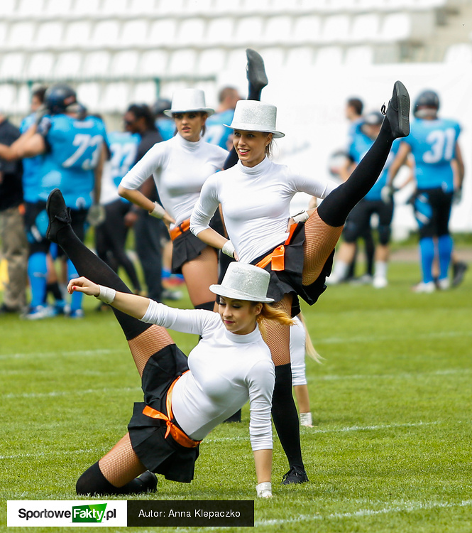 Bell Arto Cheerleaders na meczu PLFA Warsaw Eagles - Panthers Wrocław