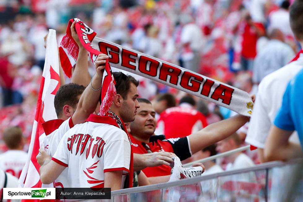 Kibice na meczu Polska - Gruzja