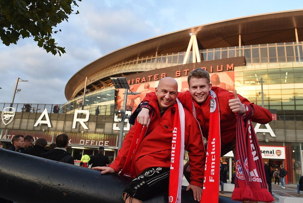Zdjęcia z meczu Arsenal Londyn - Bayern Monachium