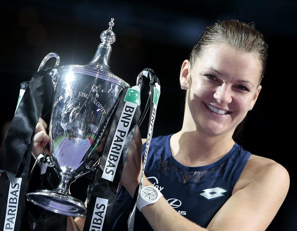 Radość Agnieszki Radwańskiej po wygraniu finału Masters